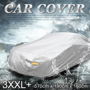 3xxl Soft Aluminum Car Cover Uv Waterproof Resist Protection 570 X 190 X 160cm