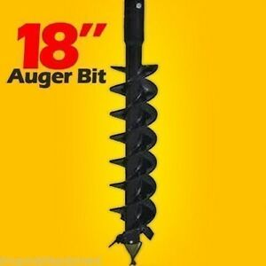 18 Skid Steer Auger Bit mcmillen Hdc for Difficult Digging 4 long 2 Hex Drive
