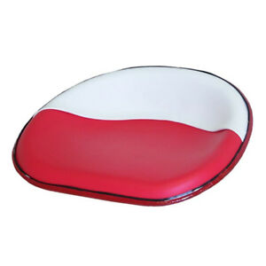 Ih Farmall Deluxe Upholstered Seat Pan Red White Supers 300 350 400 450
