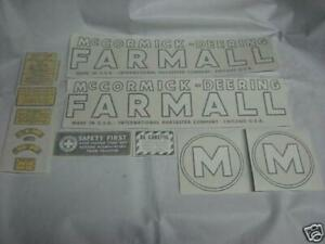 Ihc Mccormick Deering Model M Tractor Decals Vinyl Cut New Free Shipping
