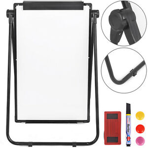Double sided Mobile Whiteboard With Stand 36 24 Magnetic Dry Erase Board