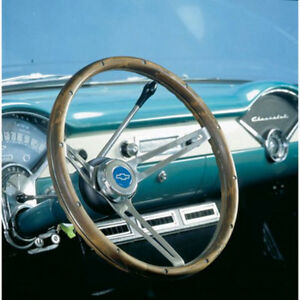 Grant 967 Brushed Stainless 15 In Diameter Classic Nostalgia Steering Wheel