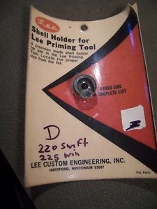 LEE OLD STYLE RIFLE SHELL HOLDER D FOR PRIMING TOOL FITS 220 SWIFT