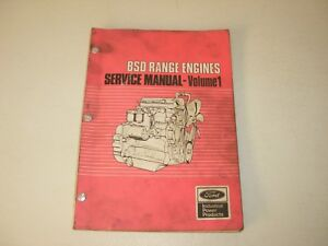 Ford Bsd Range Industrial Engines Service Manual 329 Thru 666t1 Issued 1893