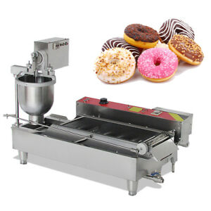 304 Commercial Automatic Electric Donut Making Machine Donut Fryer 3 Outlet Ups