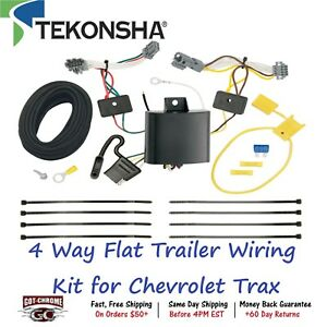 118659 Tekonsha T one 4 Way Flat Trailer Wiring Connector Kit For Chevrolet Trax
