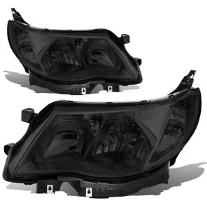 Fit 09 13 Subaru Forester Smoked Housing Clear Side Front Driving Headlight lamp