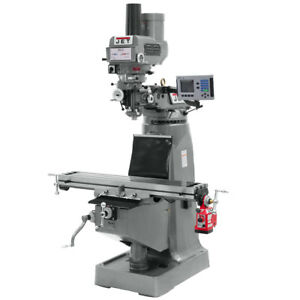 Jet Jtm 4vs Mill 3 axis Acu rite 200s Dro quill X axis Powerfeed And Draw Bar
