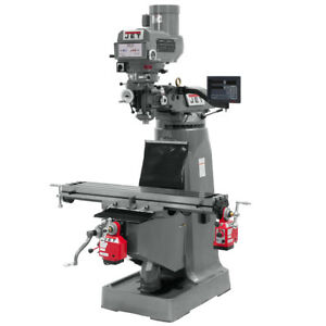 Jet Jtm 4vs Mill With Newall Dp700 Dro With X And Y axis Powerfeeds 691201