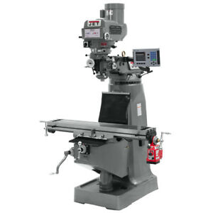 Jet Jtm 4vs Mill 3 axis Acu rite 200s Dro quill And X axis Powerfeeds 690221