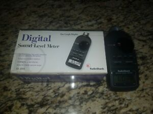 Radio Shack Digital Sound Level Meter 33 2055 Complete In Box W Manual