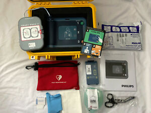 Philips Heartstart Frx Aed New Pads Battery Pelican Case 1 One Year Warranty