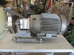 Fristam Fp7320c10971 Centrifugal Stainless Steel Ss Pump 15 Hp
