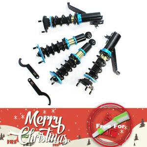 Smooth Bule Coilover Coil Strut Shocks Damper Fit Acura Rsx Dc5 Coupe 2d 02 06