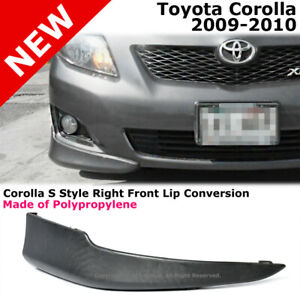 Toyota Corolla 09 10 S Style Front Passenger Lower Body Kit Lip Spoiler Pp Black