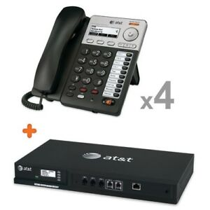 At t 4 line Analog Gateway W 4 Syn248 Sb35025 Corded Phone Systems