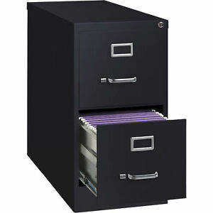 Hirsh Industries 2 drawer File Cabinet Black 15inwx26 5indx28 4inh Model 14416