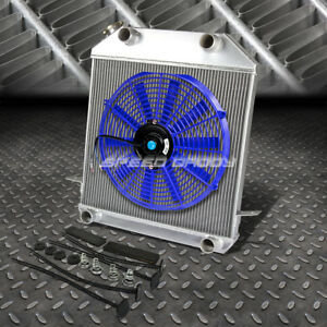 3 Row Radiator 16 Fan Blue 39 41 Ford 39 40 Mercury V8 Flathead Flatty Engine