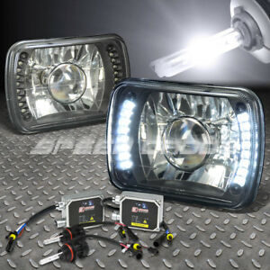 7x6 Square Black Projector Led Headlight H4 Bulbs 6000k Hid Ballast For Toyota