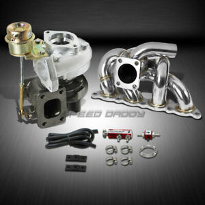 T25 t28 Td04 250hp boost 3pc Turbo Charger manifold Kit For 4g93 Mirage evo Ct9a