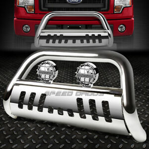 Chrome 3 Bull Bar Grille Guard Chrome Fog Light For 11 16 Ford Explorer U502 Cuv