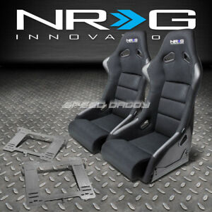 Nrg Fiberglass Bucket Racing Seats t304 Steel Mount Bracket For Mk3 Vw Golf gti