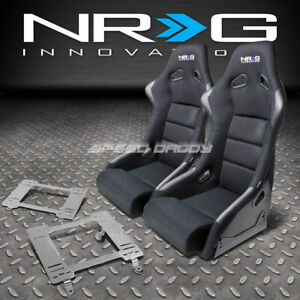 Nrg Fiberglass Bucket Racing Seats t304 Steel Mount Bracket For 82 92 Firebird