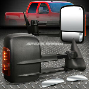 Power Heat Signal Towing Side safety View Blind Spot Mirror For 03 07 Gmt800