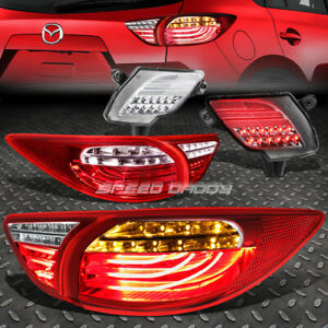 Red Clear 3d Led Tail Lights Chrome Rear Reflector Lamp For 13 16 Mazda Cx5