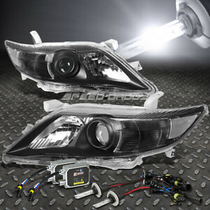 Black Housing Projector Headlight 6000k Hid Bulb Ballast Kit For 10 11 Camry
