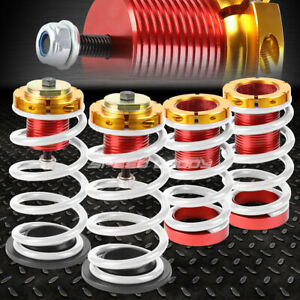 For 12 15 Honda Civic 1 4 Adjustable White Spring Coilover Suspension Lowering