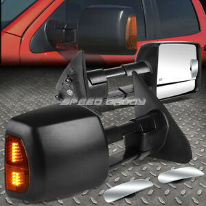 Power Heat Tow Mirror W led Signal blind Spot Rectangle Convex For 07 16 Tundra