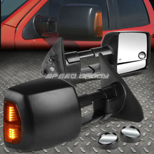 Power Heat Tow Mirror Side Led Signal blind Spot Convex Bezel For 07 16 Tundra