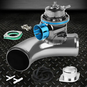 Light Blue Adjustable Type fv Blow off Valve 2 5 80 Degree Flange Adapter Pipe