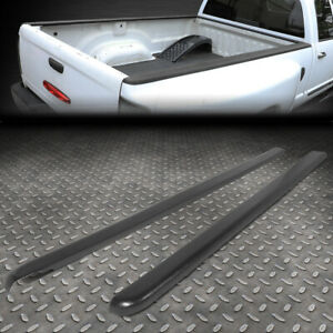 For 05 11 Dodge Dakota 6 5ft Bed Pair Satin Black Truck Rail Caps Cover Molding