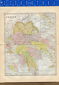 Greece The Cyclades 1895 Color Country Map