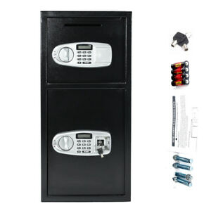 30 5 Digital Electronic Iron Safe Box Keypad Lock Home Office Hotel Gun Black
