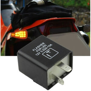 2 Pin Electronic Flasher Relay Replace For Turn Signal Light Fast Hyper Flash Us