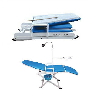 Warranty Dental Mobile Chair With Led Cold Light Full Folding 100 175 Cuspidor