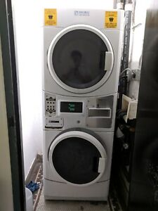 Maytag Electric Coin Operated Washer Dryer Stack W Coin Box