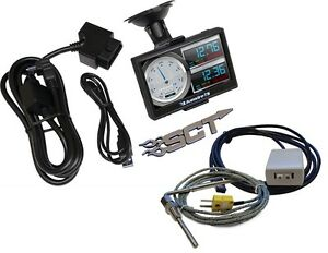 Sct Livewire Ts Performance Tuner Programmer Monitor Ford Diesel Gas Pyrometer