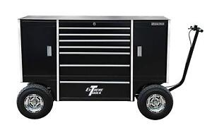Extreme Tools Txpit7009bk 70 Pit Box W 7 Drawers 2 Side Compartments Black