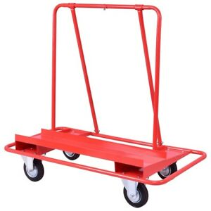Drywall Cart Dolly Handling Heavy Duty Sheetrock Sheet Panel Service Cart Red Us