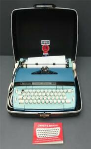 Smith Corona Coronet Electric 10 Blue Typewriter W Hard Case owners Manual