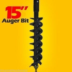 15 Skid Steer Auger Bit Mfg By Mcmillen 48 long fits All 2 Hex Auger Drives