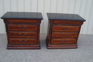 00001 Pair Marble Top Nightstand End Table Stand S Universal Furniture