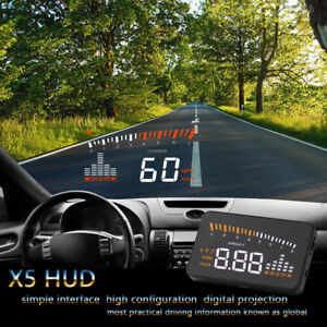 Car Head Up Display Obd2 Ii Hud Projector Speedometer Mph Km H Speed Warning Chz