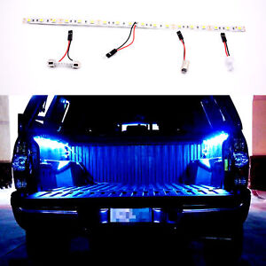 Blue 18 Smd 5050 Led Strip Light For Car Trunk Cargo Area Or Interior 12 T10