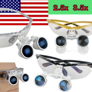 Uas Dental Lupas Surgical Loupes 3 5x 2 5x 420mm 320mm Optical Glass Magnify