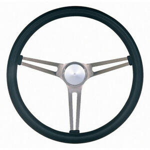 Grant 969 Brushed Stainless 15 In Diameter Classic Nostalgia Steering Wheel